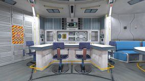 Space station. 3D CG rendering of the space station vector illustration