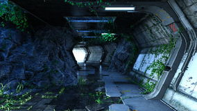 Space station. 3D CG rendering of a space station Royalty Free Stock Images