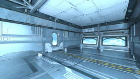 Space station. 3D CG rendering of a space station Stock Photos