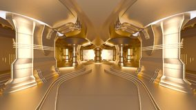 Space station. 3D CG rendering of the golden space station Royalty Free Stock Photography