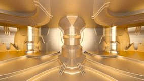 Space station. 3D CG rendering of the golden space station Royalty Free Stock Image