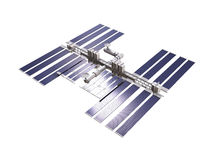 Space station 3d render with clipping path Royalty Free Stock Photo