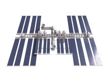 Space station 3d render with clipping path Royalty Free Stock Photos