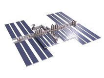 Space station 3d render with clipping path Royalty Free Stock Photography