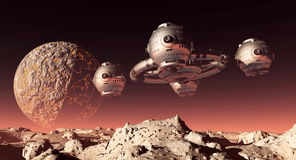 Space station in a distant world Stock Images