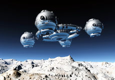 Space station in a distant world Stock Photos