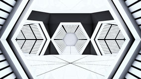 Space station hallway tunnels Stock Photography