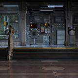 Space Station-Inside Royalty Free Stock Image