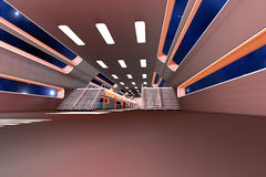 Space station Interior Royalty Free Stock Photo
