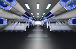 Space station Interior. 3D Architecture visualization Stock Image