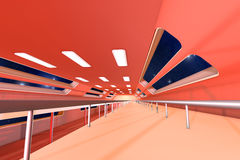 Space station Interior. 3D Architecture visualization Stock Photos