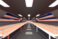 Space station Interior. 3D Architecture visualization Royalty Free Stock Photo