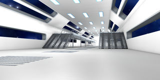 Space station Interior. 3D Architecture visualization Royalty Free Stock Photography