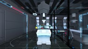 Space station laboratory. 3D CG rendering of the space station laboratory vector illustration