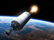 Space Station Launch Orbiting Earth Royalty Free Stock Photography