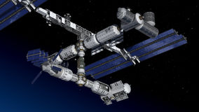 Space station, modular satellite Royalty Free Stock Photography