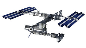 Space station, modular satellite Stock Photography