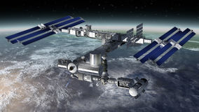 Space station, modular satellite Stock Photos