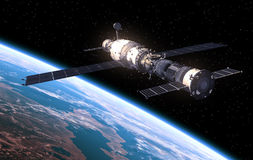 Space Station Orbiting Earth Royalty Free Stock Images