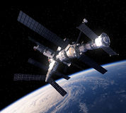 Space Station Over The Earth Royalty Free Stock Images