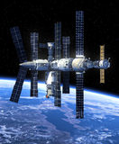 Space Station In Space. Stock Photo