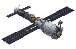 Space Station And Spacecraft Royalty Free Stock Photography