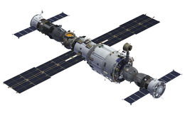 Space Station And Spacecrafts Stock Images
