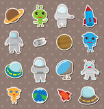 Space stickers vector illustration