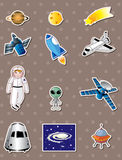 Space stickers Stock Photography