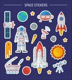 Space stiker set vector illustration