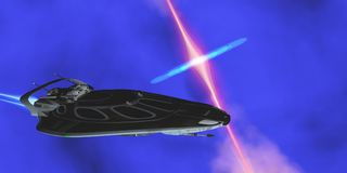 Space Stinger Star-ship Royalty Free Stock Photo