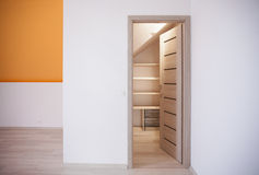 Space for storage in attic Royalty Free Stock Photos