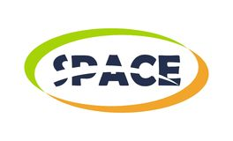 Space letter logo Stock Images