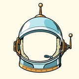 Space suit helmet isolated on white background. Pop art retro vector illustration Stock Images
