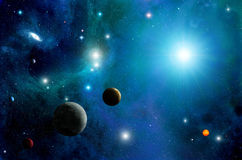 Space Sun and Planets Royalty Free Stock Images