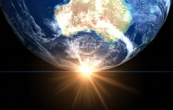 Space sunrise Australia Stock Photos