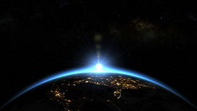 Space Sunrise over USA - North America. Earth from space. Clip contains: background, abstract, globe stock footage