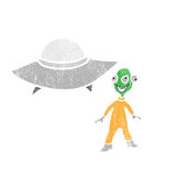 Space technology alien and spaceship Stock Photography