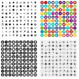 100 space technology icons set vector variant. 100 space technology icons set vector in 4 variant for any web design isolated on white Stock Image