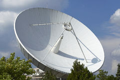 Space Telecommunication Station. 's radar looking to the blue sky Stock Photography