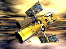 Space Telescope. In abstract horizon stock illustration