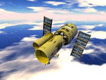 Space Telescope. In the Horizon royalty free illustration