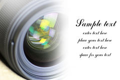 Space for text on background of lens flare Stock Photography