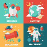 Space theme banners and cards Stock Photos