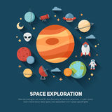 Space theme banners and cards Stock Photography