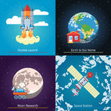 Space Theme Banners Stock Image
