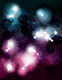 Space themed abstract vector background design Stock Photo