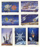 Space thems first steps russian explorer plan Stock Images