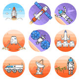 Space thin line icon. Vector illustration. Royalty Free Stock Photography