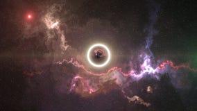 Space-time η κυρτότητα, πέταξε μέχρι τη μαύρη τρύπα, ορίζοντας γεγονότος ελεύθερη απεικόνιση δικαιώματος